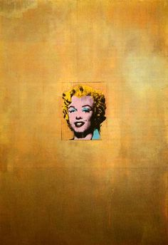 Andy Warhol. Gold Marilyn Monroe. 1962.More Pins Like This At FOSTERGINGER @ Pinterest