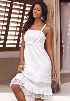 Plus Size St. Tropez Dress with Empire Waist by Denim 24/7 | Plus Size Dresses | Roamans