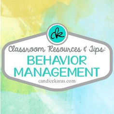 a Pinterest board with resources and tips for behavior management in the classroom