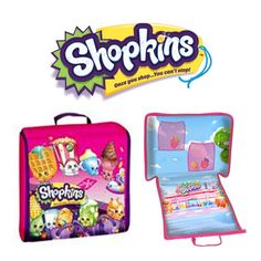 Shopkins Storage Case With Shopville Play Scene (Avail. Early April)