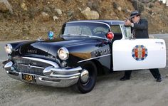 1955 Buick like the one Broderick Crawford drove in ''Highway Patrol''