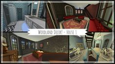 I decorated the first house of my awesome multiplex build. I did the master, office and lounge/ bar. Gallery: Link is on part 3 of this build! Sims 4 House Building, Woodland Decor, Sims 4 Houses, Lounge, Geek, Mansions, House Styles, Home Decor, Airport Lounge