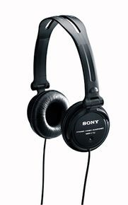 Great headphones for use in video production. Lightweight, cheap, good range and very very loud!