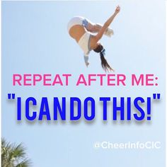 REPIN if you are going to work on your goals today! For tons of cheerleading tips and more, check out CheerleadingInfoCenter.com.  Have a wonderful day :-)