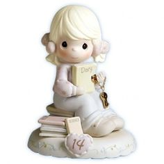 Precious Moments, Growing In Grace, Age Bisque Porcelain Figurine, Blonde Girl, 272655 Precious Moments Wedding, Precious Moments Quotes, Precious Moments Figurines, Inspirational Mottos, Porcelain Dolls For Sale, Grow In Grace, Thing 1, Old Things, Things To Sell