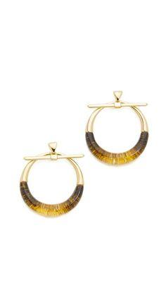 Alexis Bittar Pierced Liquid Hoop Earrings