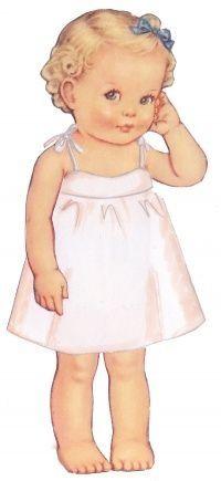 Paper cut-out little girl
