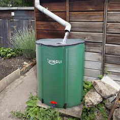VINGLI 50 Gallon Collapsible Rain Barrel, Portable Water Storage Tank, Rainwater Collection System Downspout, Water Catcher Container with Filter Spigot Overflow Kit - irrigation supplies Rain Barrel Stand, Indoor Tropical Plants, Planter Beds, Water Storage Tanks, Rainwater Harvesting, Water Garden, Backyard Landscaping, Landscaping Ideas, Filter