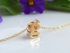 100% Gold filled Initial Necklace