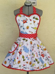 Dr. Seuss All Over Print Apron by AquamarCouture on Etsy