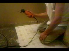 Remove Linoleum Glue By Pouring Boiling Water Over Floor
