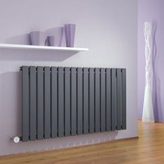Milano Alpha Electric - Anthracite Horizontal Single Slim Panel Designer Radiator 635mm x 1190mm - http://www.bestheating.com/milano-alpha-anthracite-horizontal-single-slim-panel-electric-designer-radiator-635mm-x-1190mm.html