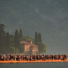 "Art installation ""The Floating Piers"" on Italy's Lake Iseo"