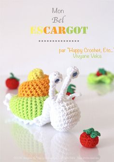 Crochet Snail Amigurumi animal Crochet Pattern PDF