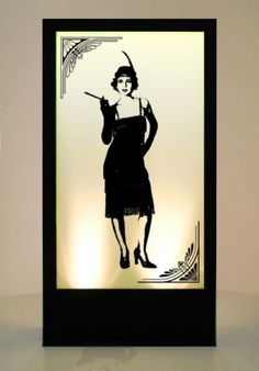 Event Prop Hire: 20's Standing Girl 2 Silhouette Panel