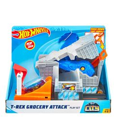 Hot Wheels City Nemesis T-Rex Grocery Attack Playset Lego, Dinosaur Toys, Hot Wheels Cars, Baby Girl Newborn, Baby Clothes Shops, T Rex, Baby Gear, Baby Strollers, Baby Kids