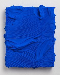 Vincente, 2014, by Jason Martin   Jason Martin makes sensual, almost three-dimensional paintings—compositions of thickly impastoed modeling paste painted a single, rich color.