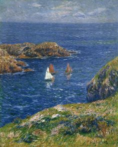 MORET, Henry  [French Impressionist Painter, 1856-1913]  Ouessant, Calm Seas 1905 Oil on canvas, 93 x 74 cm Private collection