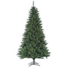 Fraser Hill Farms Canyon Pine Artificial Christmas Tree - 10 Ft. ($549) ❤ liked on Polyvore featuring home, home decor, holiday decorations, green, holiday decor, holiday home decor, green home decor and traditional home decor