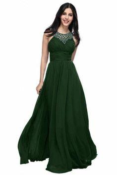 dunkel grün design kleid ziermotive