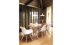 Eames® Molded Plastic Dowel-Leg Side Chairs and armchairs- my first purchase for my new dining room  #DWRdining