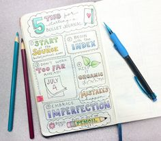 5 Tips for Starting a Bullet Journal