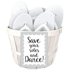 Help get your guests on the dance floor by providing flip flops as favors! | Wedding Flip Flop Favors | David's Bridal | Reception Ideas | Wedding Favor Ideas | Wedding Dancing Shoes for Guests | Wedding Dance Floor Ideas | #flipflops #weddingfavors #favors