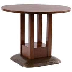 Round Josef Hoffmann Table from the Sanatorium Purkersdorf | From a unique collection of antique and modern tables at https://www.1stdibs.com/furniture/tables/tables/