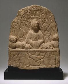 An image of Chinese Buddhist stele  northern wei