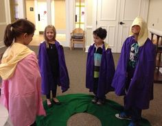 A Living Advent Wreath - involving children in the practice of preparing for Christmas.