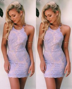 Lavender Homecoming Dress,Lace Homecoming Dresses,Short Prom Gown,Homecoming Gowns