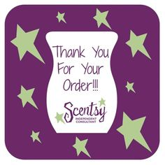 Thank you for placing an order with me!! I just love being your Scentsy Consultant!! <3 https://scent-aholic.scentsy.us