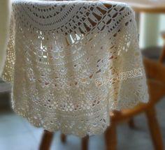 crochet shawl - diagram      http://make-handmade.com/2011/08/26/gift-presents-for-women-beautyful-shawl-free-crochet-patterns/