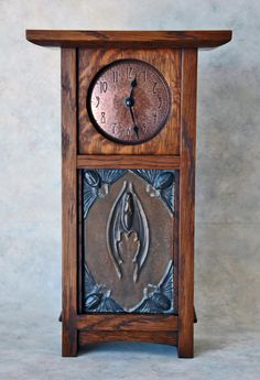 Modern built craftsman style clock.