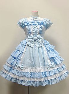 Lolita Fashion. Has some good parts. This particular dress could make for a different twist to Alice in Wonderland