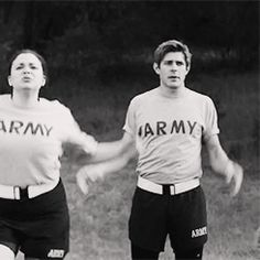 Chris Lowell in FOX's new show 'Enlisted'  My favorite GIF on the internet :)