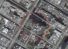 Satellite: The AT&T building has a satellite dish on it; Titanpointe has been linked to Skidrowe, which intercepts satellite data. It also has parking spaces marked 'AWM' - code for the feds