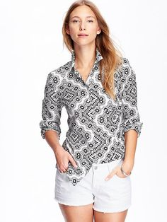 Wayyy cooler when you see it in person. Old Navy two thumbs up again!!  Women's Patterned Lightweight Shirts