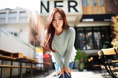 I love her hair ❤️ Chom Mi Korean Street Fashion, Asian Fashion, Everyday Hairstyles, Kawaii Girl, Beautiful Asian Girls, Sweet Girls, Ulzzang Girl, Pretty Face, Her Hair