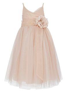 PrincharFlower Girl Dress Junior Bridesmaids Dress Kids Toddler Dress US 6M Blush - Cecilia???!?!!?!