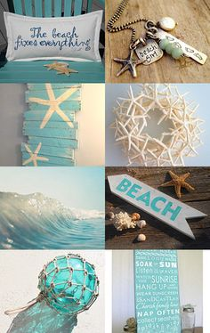 Beach Dreams Etsy Treasury featuring our BEACH pillow --Pinned with TreasuryPin.com