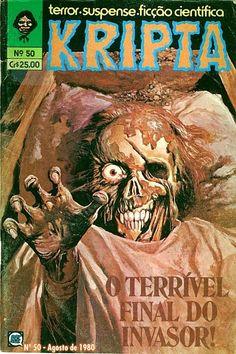 Revista Kripta #50 - RGE (1976) - Quadrinhos de terror, suspense, ficção e sobrenatural