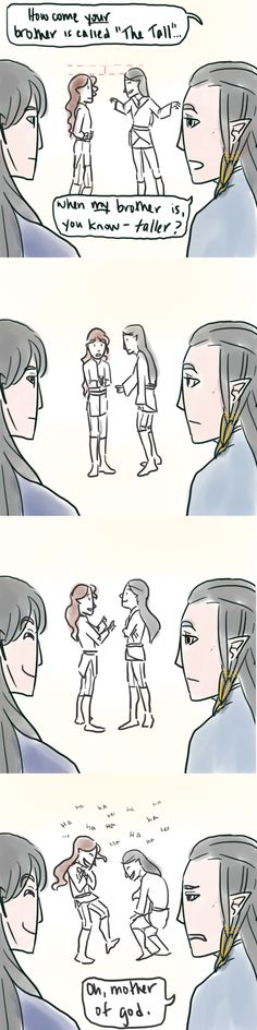 LotR/S: The Tall - Full Comic by Houkakyou - (Maglor and Fingon up front, Maedhros and Argon in the back)