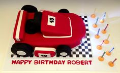 Go Kart birthday cake with working headlights - Sweets by Millie Boy Cakes, Cakes For Boys, Birthday Cakes, Birthday Parties, Happy Birthday, Party Themes, Party Ideas, Go Kart, Custom Cakes