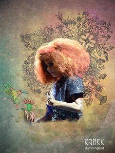 Bjork and Hummingbird by Ka Man Lee, via Behance