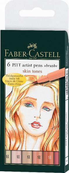 Μαρκαδοροι Art Pen PITT - Σετ 6 Skin