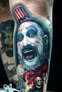captain spaulding. @Gabriel Trionfi Walz ...not that I like this...but I knew you'd enjoy it