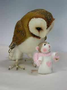 PDF CLASS Needle Felted Animal Dressed Mouse & Bunny por barby303