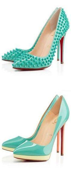 Turquoise | fashion, women's shoes, high heels | Christian Louboutin