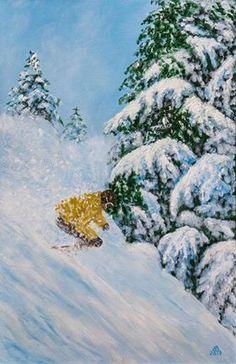The disturbed silence ( A csendháboritó) 60×40 cm oil, str. canvas By: Baji Erzsébet #ZsikeArt Győrújbarát HUNGARY Snow, Outdoor, Outdoors, Outdoor Living, Garden, Eyes